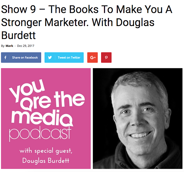 douglas burdett you are the media podcast